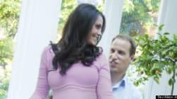 Art : des fausse photos de yoga prénatal pour Kate et