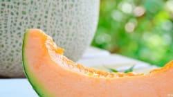 Crema fredda di melone e mandorle. Il colore è nel