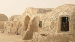 Un plateau de tournage de Star Wars en voie de
