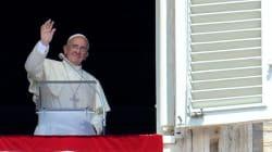 Papa Francesco durante l'Angelus: