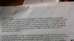 Anti-Gay Letters Prompt Massive