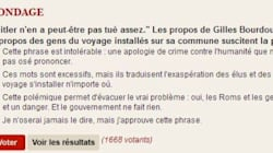 Polémique autour d'un sondage du Point sur les propos de Gilles
