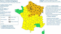 Orages: 21 départements du nord de la France en alerte