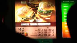 Afficher les calories dans les fast-food n'a pas