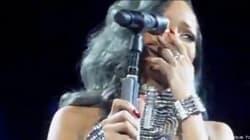 Ses fans français lui font trop d'effet? Rihanna en pleurs à