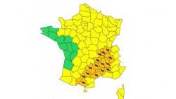 Trois départements en alerte orange pour les