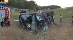 Accident de car sur l'A9: 2 morts et 2 blessés