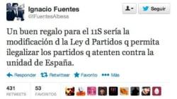 Un dirigente de NNGG de Cataluña defiende ilegalizar los partidos