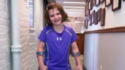 4 mois après Boston, cette survivante de 7 ans retrouve le