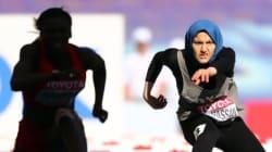 L'atleta egiziana corre con il