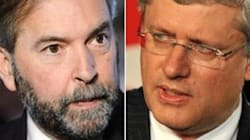 Harper's 'Afraid', Mulcair