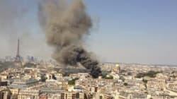 Incendie impressionnant à Paris près des