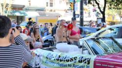Topless March Attracts