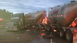 'Highway Of Death' Crash Leaves 6 Seriously