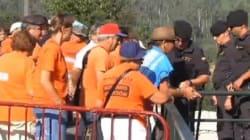 Rajoy, recibido con protestas en Soutomaior
