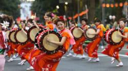 ロシア「赤の広場」で盛岡のさんさ踊り