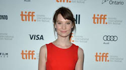 Mia Wasikowska Gets A Cute Bear Hug At