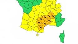 Huit départements du sud menacés par de forts