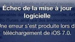 iOS7: les internautes partagent les mauvaises surprises du