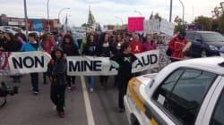 Sept-Îles: une marche contre Mine