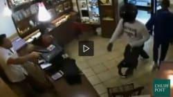 Un gioielliere prende a calci nel sedere due rapinatori e li mette in fuga