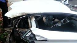 Comment couper sa Lamborghini en deux, en une seconde