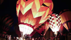 LOOK: Gorgeous Hot Air Balloons Light Up The Night