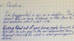 La lettre d'un grand-père qui renie sa fille
