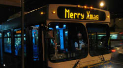 Much Ado Over 'Merry Christmas' Bus