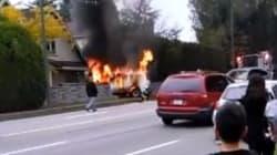 Serious Burns For Suspects In Van
