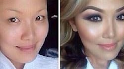 LOOK: Stunning Before-And-After Makeup