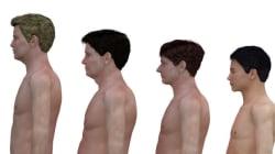 日本含む4カ国、30代男性の「体型」を比較
