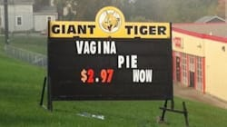 LOOK: Hilarious Giant Tiger Sign