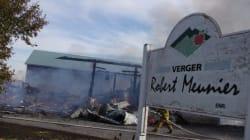 Un incendie détruit un entrepôt à