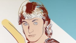 Warhol Painting Of Gretzky Coming To