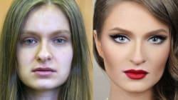 Cambio radical con maquillaje: antes y después de mujeres