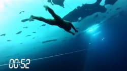 In apnea sotto il ghiaccio per 76 metri