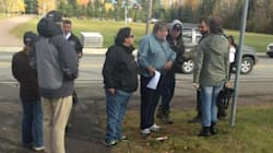 Protesters In Rexton Confront