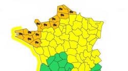 Tempête : 12 départements du nord-ouest