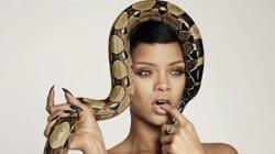 Rihanna prend la pose avec un serpent (et peu de
