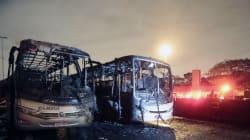 Camions brûlés à Sao Paulo en représailles à la mort d'un