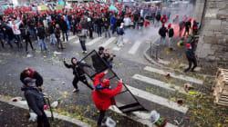 Manifestation en Bretagne : affrontements à Quimper, un portique écotaxe
