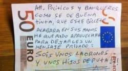 Toute la colère de l'Espagne sur les billets de