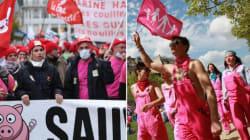 Manif pour tous vs crise bretonne : bonnets rouges et roses