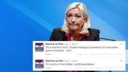 Quand Marine Le Pen s'emballe (à tort) sur un tweet de