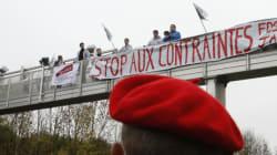 Manifestations contre l'écotaxe, plusieurs bornes