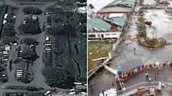 Prima e dopo: le foto che mostrano gli effetti del tifone Haiyan