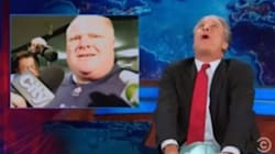 WATCH: Jon Stewart Loses It Over Rob Ford