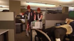 WATCH: Bobsledders In The Office, Hilarious Mayhem