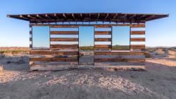 Une cabane invisible en plein